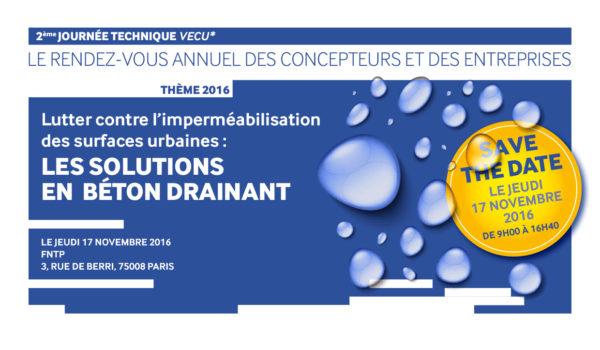 Journée VECU 2016 : les solutions en béton drainant