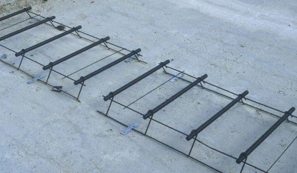 Installation de goujons ou fers de liaisons, post-goujonnage