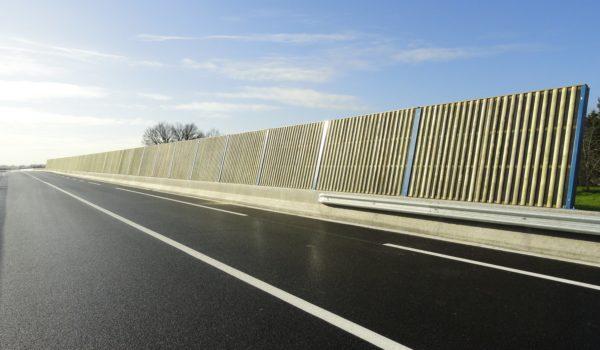Murs antibruit ou écrans acoustiques en béton