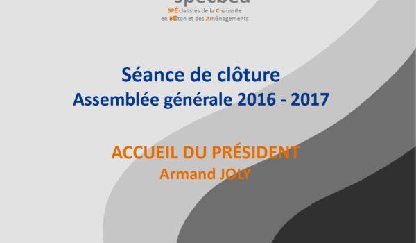 Assemblée Générale 2016-2017, le 27/09/2017