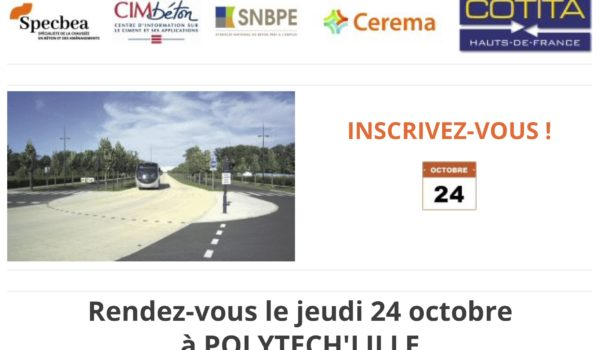 «Bétons pour infrastructures routières» le 24/10/2019
